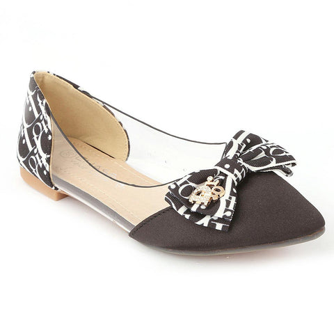 Girls Fancy Pumps (M992-45) - Black