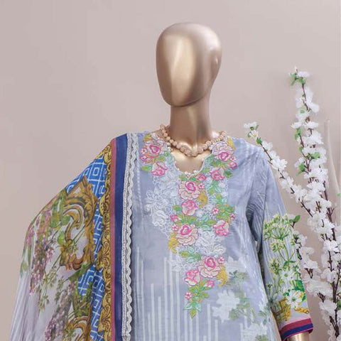 Schick Embroidered Lawn 3 Piece Un-Stitched Suit - 09