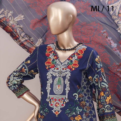 Schick Embroidered Lawn 3 Piece Un-Stitched Suit - 11
