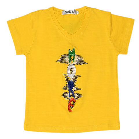 Boys Half Sleeves T-Shirt - Yellow