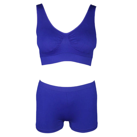Women's Sports Bra & Panty Set - Royal Blue - test-store-for-chase-value