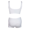 Women's Sports Bra & Panty Set - White - test-store-for-chase-value
