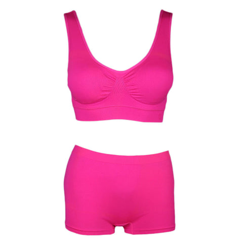 Women's Sports Bra & Panty Set - Pink - test-store-for-chase-value