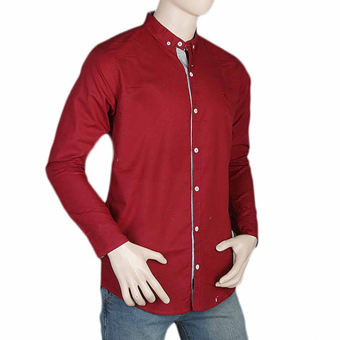 Men's Casual Shirt - Maroon
