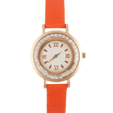 Women's Wrist Watch - Orange