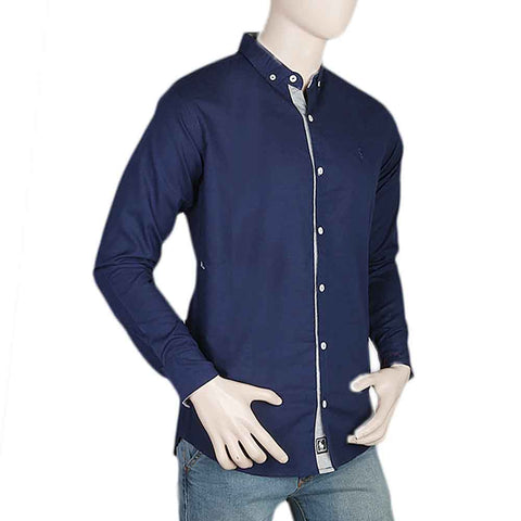 Men's Casual Shirt - Navy Blue