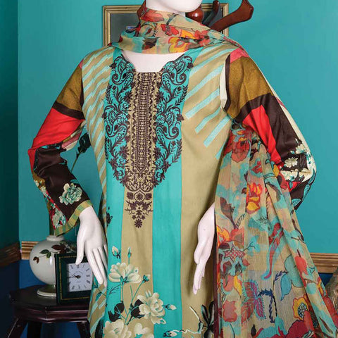Abelia Embroidered Lawn 3 Piece Un-Stitched Suit - NYX A3