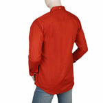 Men's Casual Shirt - Orange