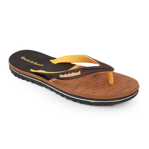 Quick Surf Men's Slippers QUI-2417 - Mustard