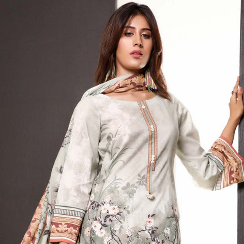 Salina Digital Printed Cotton 3 Piece Un-Stitched Suit - 22