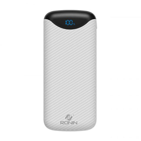 Ronin Carbon Fiber Texture Power Bank 20000mah (R-90) - test-store-for-chase-value