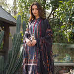 Malhar Digital Printed Lawn 3 Piece Un-Stitched Suit - 03