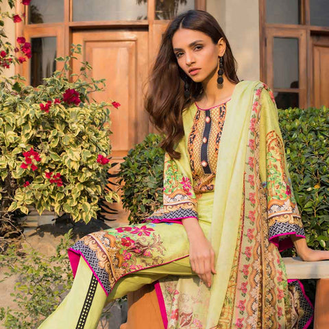 Malhar Digital Printed Lawn 3 Piece Un-Stitched Suit - 05