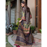 Malhar Digital Printed Lawn 3 Piece Un-Stitched Suit - 06
