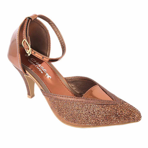 Women's Fancy Heel - Brown (S 203)