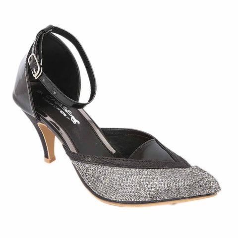 Women's Fancy Heel - Black (S 203)