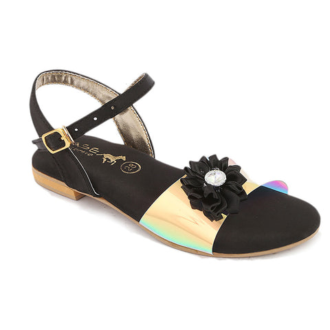 Girls Fancy Sandal (S-253) - Black