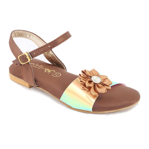 Girls Fancy Sandal (S-253) - Brown