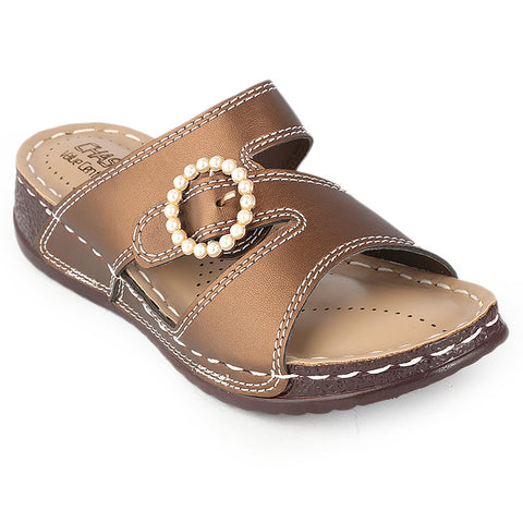Women's Softy Slipper (S-31) - Brown - test-store-for-chase-value