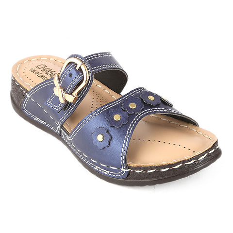 Women's Softy Slipper (S-32) - Blue - test-store-for-chase-value