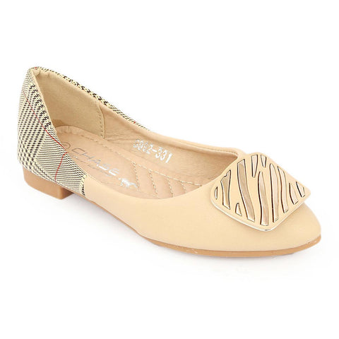 Girls Fancy Pumps (S992-331) - Beige