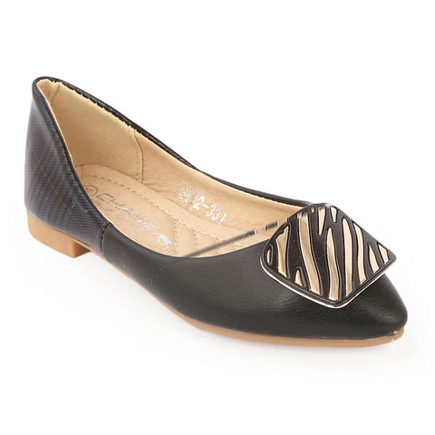 Girls Fancy Pumps (S992-331) - Black