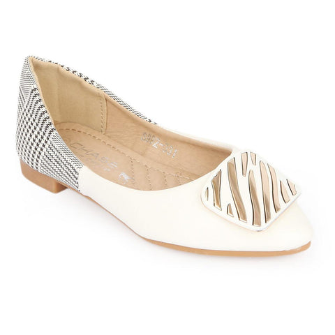 Girls Fancy Pumps (S992-331) - White