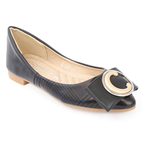 Girls Fancy Pumps (S992-B1) - Black