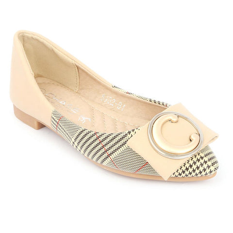 Girls Fancy Pumps (S992-B1) - Beige