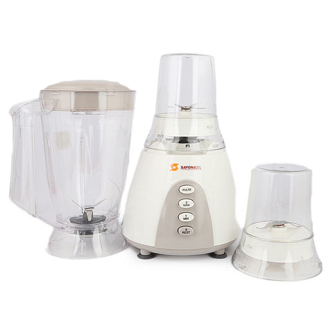 Sayona Unbreakable Blender & Mill (SB-4016) - White