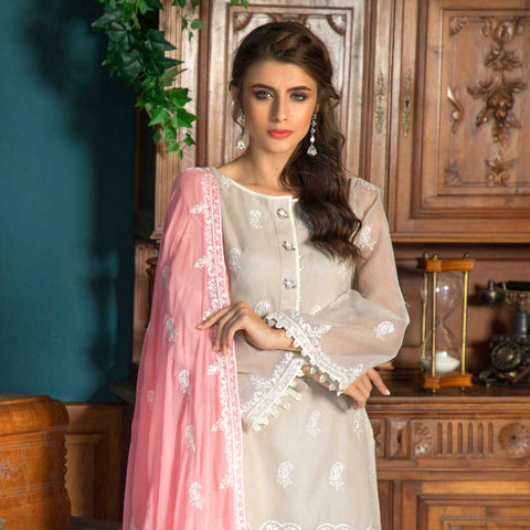 Salina Digital Embroidered Lawn 3 Piece Un-Stitched Suit - 01