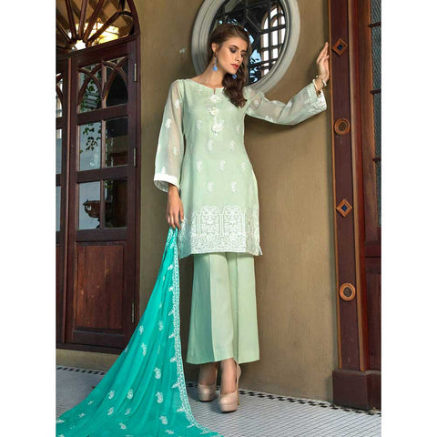 Salina Digital Embroidered Lawn 3 Piece Un-Stitched Suit - 08