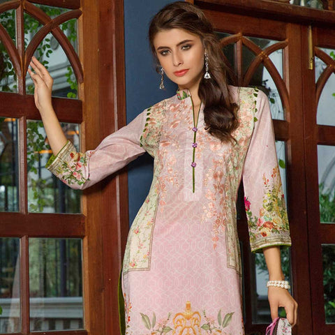 Salina Digital Embroidered Lawn 3 Piece Un-Stitched Suit - 09