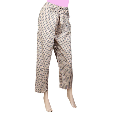 Women's Printed Trouser - Fawn