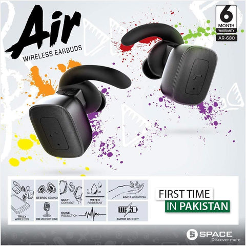 Space Air Wireless Earbuds (AR-680) - test-store-for-chase-value