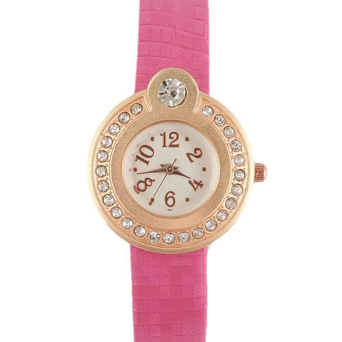 Women's Wrist Watch - Shocking Pink