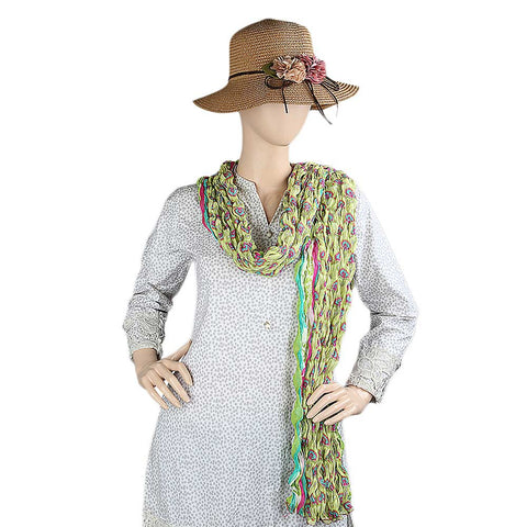 Crinkle Dupatta For Women - Multi