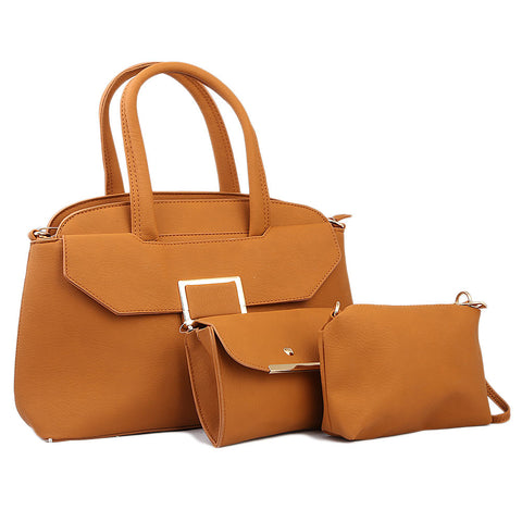 Women's Handbag 3 Piece - Taupe