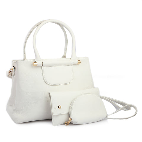 Women's Handbag 3 Piece - White