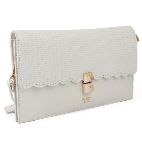Ladies Clutch 9349 - White