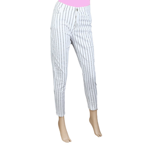 Women's cotton Pant - White