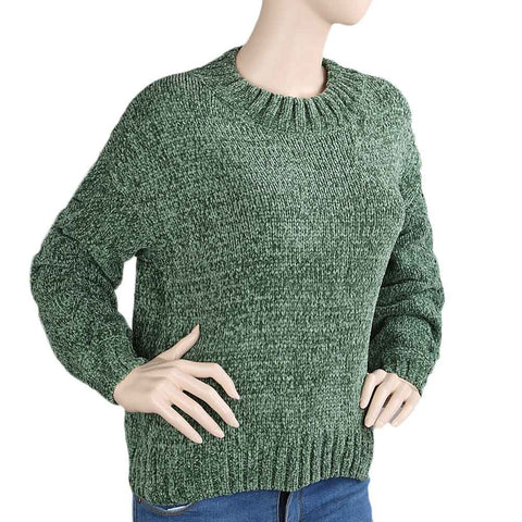 Women's Full Sleeves Sweater - Green