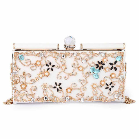 Women's Bridal Clutch - White