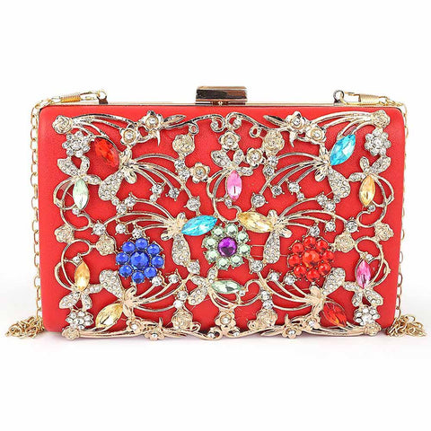 Women's Bridal Clutch - Red