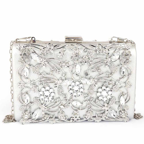 Women's Bridal Clutch - Silver