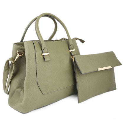 Women's Handbag 2 Pcs (0156) - Green