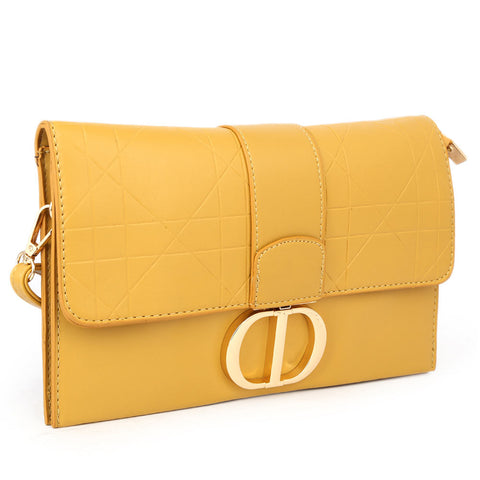 Women's Clutch 68010 - Yellow