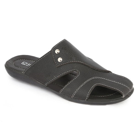 Men's Casual Slippers (A-101) - Black