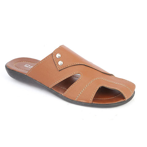 Men's Casual Slippers (A-101) - Brown