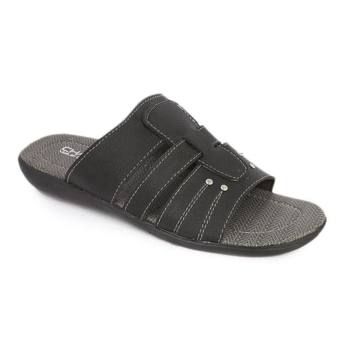 Men's Casual Slippers (A-102) - Black